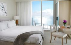Oceanfront King Rooms feature a private balcony and views of the Atlantic Ocean.