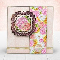 Card created from Hunkydory Crafts' Rose Bouquet Topper Set Hunkydory Crafts, Hunky Dory, Heartfelt Creations, Rose Bouquet, 3 D, Birthdays, Card Making, Paper Crafts, My Favorite Things