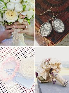 38 Creative Ways to Honor Your Parents at Your Wedding - Lace from Mom's Old Dress