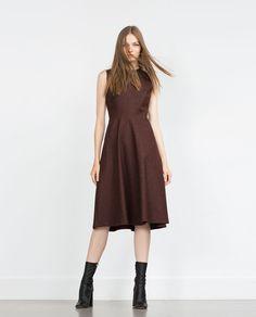 DRESS WITH FULL SKIRT-Midi-Dresses-WOMAN | ZARA United States