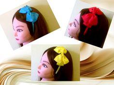 Headband Alice in Wonderland /Plastic ribbon covered headband with bow/Hard headbands/satin headband/costume party/carnival #AliceinWonderland #Headband #halloween #costumeparty #carnival #valentinesday #blueheadbands #redheadbands, #yellowheadbands #gift #bow