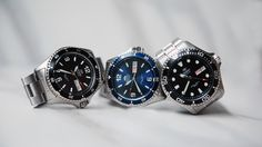 Just a few of our dapper divers. The new Mako II and Ray II have been upgraded to the next level! See how: https://orientwatchusa.com/?s=aa02&post_type=product