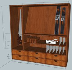 Tool cabinet design -- without the doors