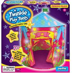 Inspired by Savannah: Make Indoor Play More Fun with the Twinkle Play Tent from Jay@Play - Includes Fun Magical Light Show (Review) Holiday Gift Guide, Holiday Gifts, Tent Set Up, Indoor Play, Christmas Morning, New Toys, Twinkle Twinkle, Savannah Chat, Good Music