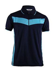 ea7ee9072 Amazon.com: BCPOLO Men's Zip Polo Shirt Dri short sleeve Performance Polo  shirt: Clothing