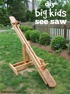 """That's My Letter: """"S"""" is for See Saw DIY:"""