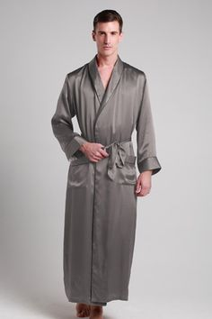 22 Momme Contra Full Length Silk Robe Start the journey to luxury at the  end of e736353f7