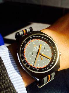Omega Speedmaster II Racing Dial on NATO strap