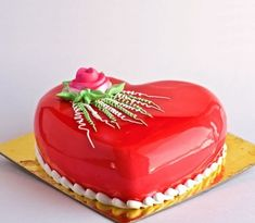 Glossy Heart Shaped Cake