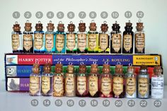 Harry Potter Inspired Potion Charms Necklace Pick 3 by 11faced, $25.00