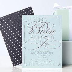 Shower your little one with a minty fresh invitation.
