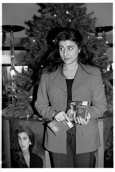 Cecilia Bartoli signing at hmv 150 Oxford Street, London, November 1993