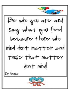 Don't you just love Dr. Seuss! I totally heart him. Although my theme this year is not Dr. Seuss I can't resist putting up some posters and ...
