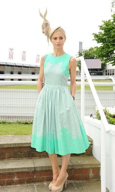 Laura Bailey, 2012's face of the Investec Derby Festival, at Investec Ladies Day at the Investec Derby Festival, which celebrated the Queen's Diamond Jubilee, in Epsom, England