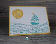 StampinUp Swirly Bird and Swirly Scribbles Thinlits Dies CAS card designed by demo Beth McCullough. See more card and gift ideas at http://www.StampingMom.com #StampingMom PalsPaperArts Pick Of The Week