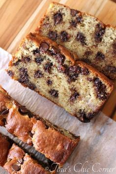 Chocolate Chip Banana Bread (The best ever and it's so quick and easy to make!) - tinaschic.com