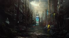 Apocalypse... by daRoz    Digital Art / Drawings & Paintings / Landscapes & Scenery   Post-Apocalyptic urban setting abandoned city
