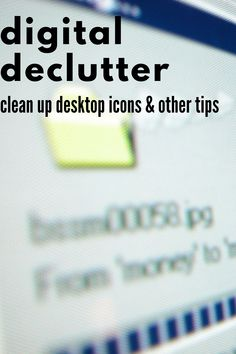 Is your computer desktop a mess? Do you even know what bookmarks you have? Take control of what's on your computer with these digital decluttering tips. Clear Out Unwanted Programs, Clean up Desktop Icons, Documents, and Downloads, and Defragment and Optimize Drives. Declutter Your Home, Organize Your Life, Organizing Your Home, Organizing Tips, Office Organization Tips, Desktop Icons, Decluttering, Clean Up, Bookmarks