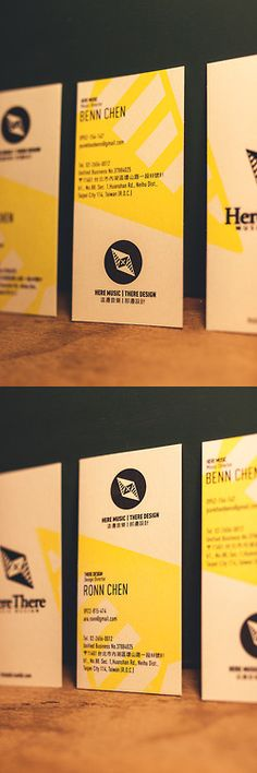Here Music | There Design - identity Card