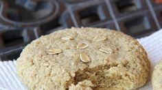 Easy almond cookies contain only oat flour, ground almonds, and real maple syrup with a touch of almond flavoring.
