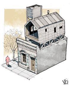 Galería de La arquitectura oculta a mano alzada, por Fernando Neyra - 5