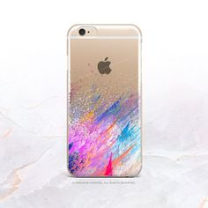 iPhone SE Splatter Clear Rubber Case iPhone 6S by HelloNutcase