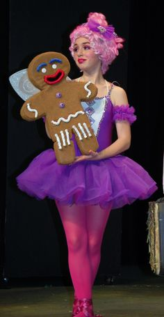Sugar Plum Fairy with Gingy. For information on buying the costume and wig or Gingy - dixonh@luhsd.net. NOTE: SPF costume and Gingy puppet are no longer available.