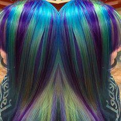 Vivid Color Art by @sarahshairlewis at Escape Salon Claremont. Love the colors!