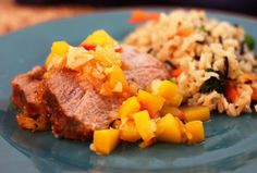 Peach Chutney Pork Roast - A great way to prepare a pork loin roast to keep it moist and flavorful.