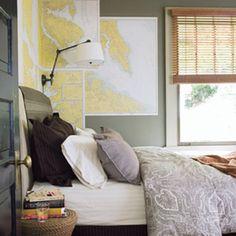 Kartat ja lamppu Teenage boys room, mikey loves maps!