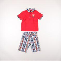 Conjunto niño talla 4 años http://www.quiquilo.es/catalogo-ropa-segunda-mano/conjunto-bermuda-de-cuadros-y-polo-color-rojo-de-la-marca-yatsi.html