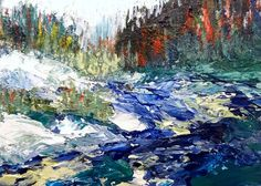 Sea Dean - Paint a Masterpiece: EMERALD RIVER - 30 PAINTINGS IN 30 DAYS - Day 9