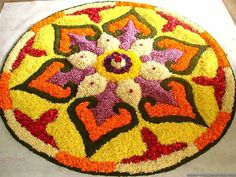 Latest Flower Rangoli Designs Images, Wallpaper, Video for This Diwali Indian Rangoli Designs, Colorful Rangoli Designs, Rangoli Designs Images, Beautiful Rangoli Designs, Mehndi Designs, Beautiful Mehndi, Beautiful Patterns, Rangoli Patterns, Rangoli Ideas
