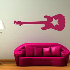 guitar wall sticker - perf for her guitar loving daddy!