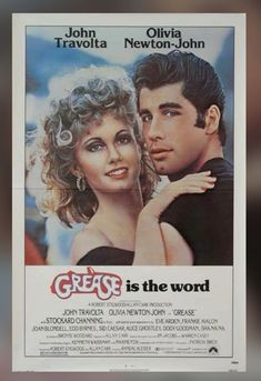 Grease (Paramount, One Sheet X Musical. Starring John Travolta, Olivia Newton John, - Available at Sunday Internet Movie Poster. Iconic Movie Posters, Iconic Movies, Classic Movies, Good Movies, Famous Movies, John Travolta, 1970s Movies, Vintage Movies, Vintage Posters