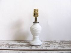 Vintage small Bedside Milk Glass hobnail by dirtybirdiesvintage, $17.00