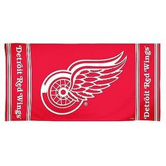 Detroit Red Wings 30x60 Fiber Reactive Beach Towel Authentic NHL Hologram NWT