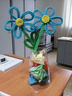Preciosas flores de papel pinocho