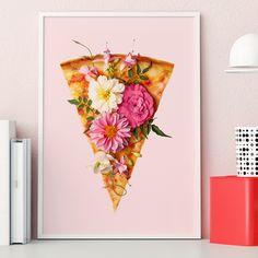 Floral Pizza | Poster | artboxONE