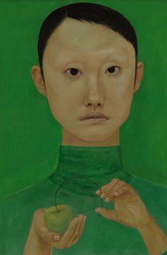 felixinclusis:    brugnone:Xiao Jin  肖進 :: Face No. 2 (XJN-005)via Hanart TZ Gallery