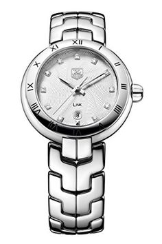 c17ea728e44 Tag Heuer Link Diamond Mother of Pearl Steel Ladies Watch WAT1411.BA0954