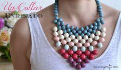 Como hacer un collar con abalorios enrejado | Aprender manualidades es facilisimo.com