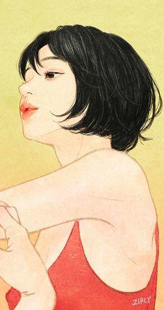 Fingertips on Behance Anime Couples Drawings, Couple Drawings, Art Drawings Sketches, Hipster Drawings, Easy Drawings, Pencil Drawings, Anime Art Girl, Manga Art, Manga Drawing