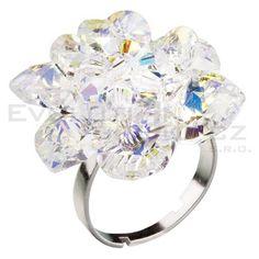 Prsten se Swarovski ELEMENTS 35012.2 krystal ab