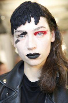 Backstage Beauty: Yohji Yamamoto Fall 2017