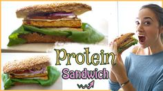 Gesundes Pausenbrot - Mittagessen zum mitnehmen - veganes Sandwich mit viel Protein - YouTube
