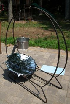 how to make parabolic solar cooker - Google Search