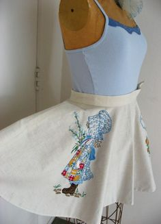70s Holly Hobbie Vintage Skirt  Full Circle by JoulesVintage, $ 58.00