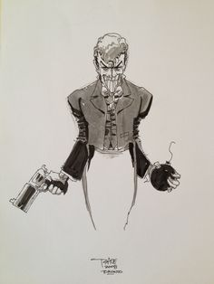 The Joker - Tim Sale Comic Art