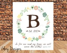 Monogram Initials Personalized Mantle art wall art by glorydesigns, $6.00